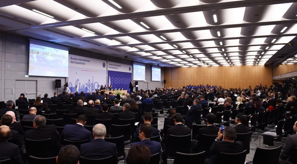 """Beynəlxalq Sərgilər Bürosunun Parisdə keçirilən 162-ci Assambleyasında """"Bakı Expo 2025""""in təqdimatı olub"""
