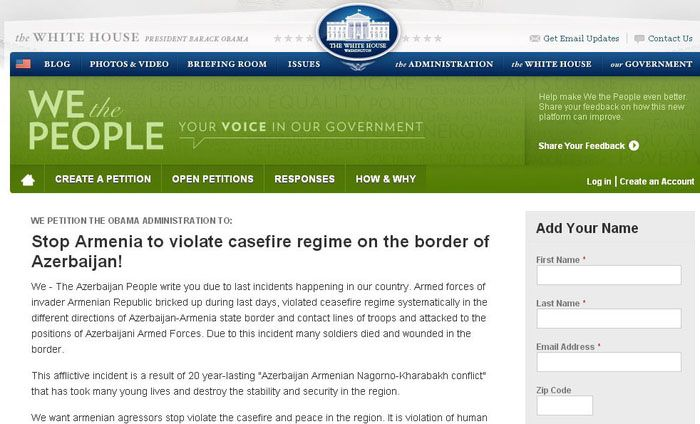 Over 65,000 people sign petition on Karabakh