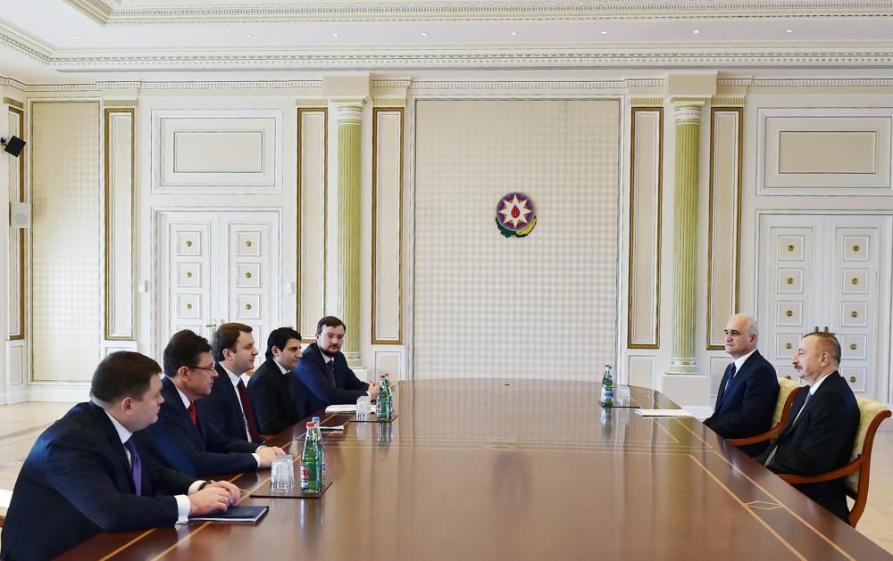 Prezident İlham Əliyev Rusiyanın iqtisadi inkişaf nazirinin başçılıq etdiyi nümayəndə heyətini qəbul edib