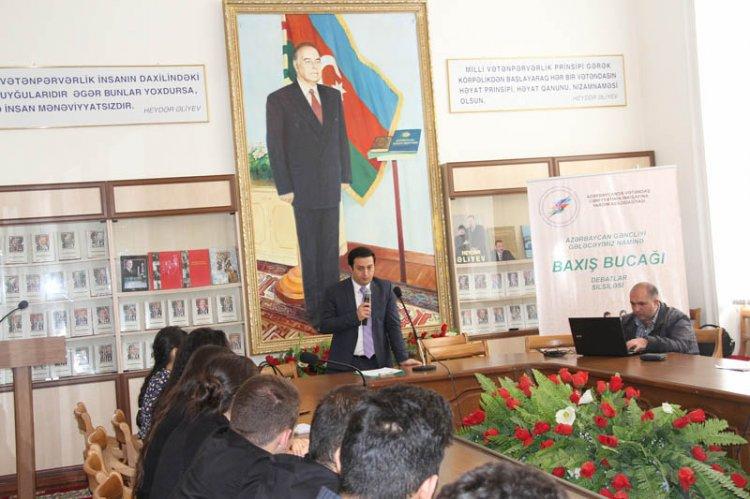 """AVCİYA-nın """"Azərbaycan gəncliyi gələcəyimiz naminə: Baxış bucağı"""" layihəsi çərçivəsində ADPU-da ilk debat olub"""