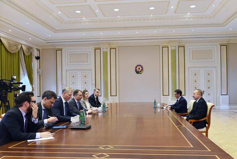 Prezident İlham Əliyev Avropa İttifaqının xüsusi elçisinin başçılıq etdiyi nümayəndə heyətini qəbul edib