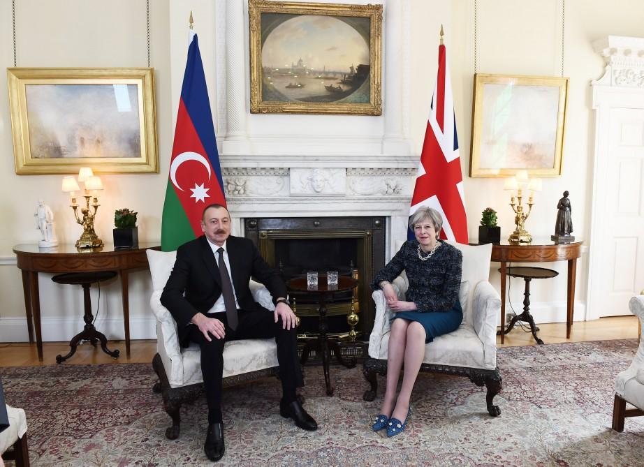 Azərbaycan Prezidenti İlham Əliyevin və Böyük Britaniyanın Baş naziri xanım Tereza Meyin görüşü