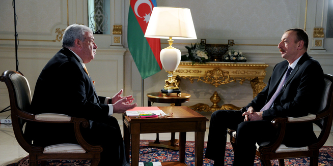 President Ilham Aliyev interviewed by First Deputy Director General of Russian news agency TASS Mikhail Gusman
