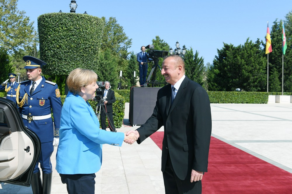 Official welcome ceremony was held for German Federal Chancellor Angela Merkel