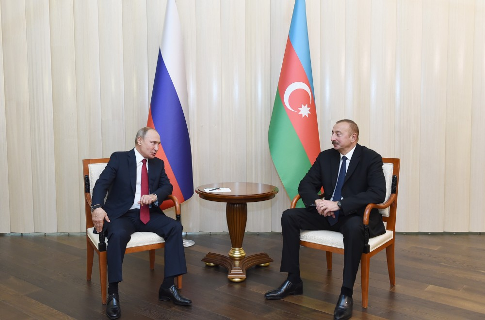 Azərbaycan Prezidenti İlham Əliyevin Rusiya Prezidenti Vladimir Putin ilə təkbətək görüşü olub