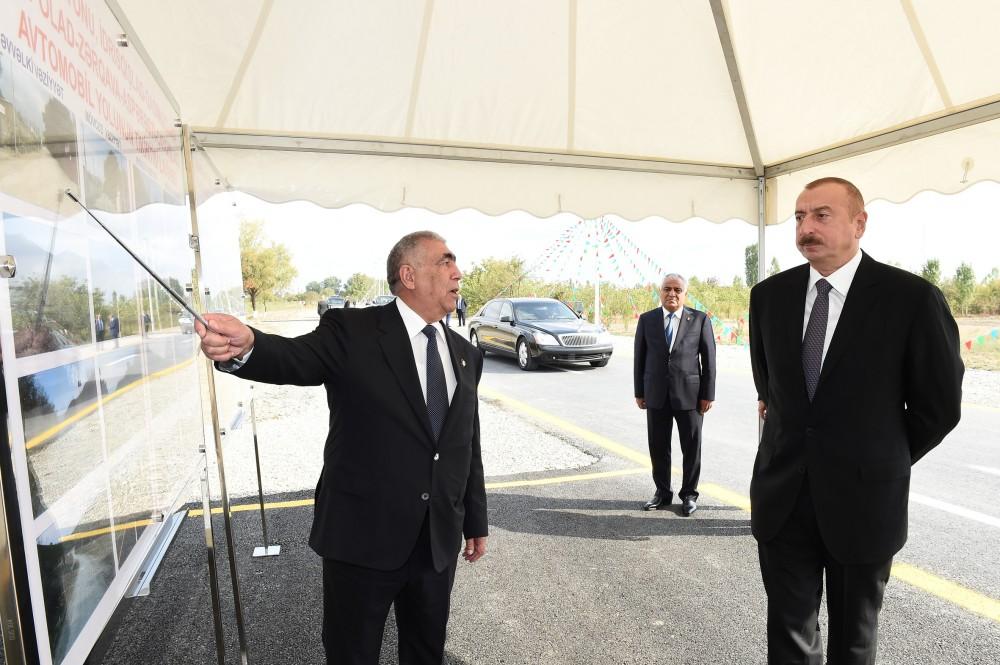 Qubada İdrisqışlaq-Qasımqışlaq-Xaspolad-Zərqava-Aspərəsti-Çayqışlaq avtomobil yolunun açılışı olub