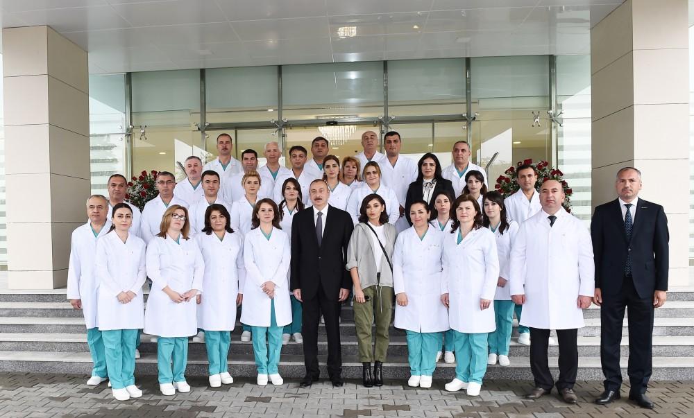 Prezident İlham Əliyev Quba Rayon Mərkəzi Xəstəxanasının açılışında iştirak edib