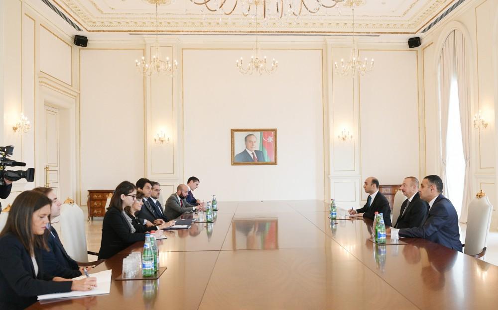 Azərbaycan Prezidenti İlham Əliyev İtaliya Senatı sədrinin başçılıq etdiyi nümayəndə heyətini qəbul edib