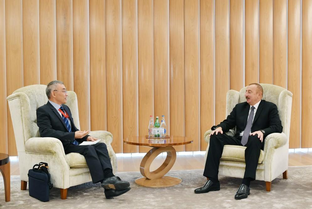 Prezident İlham Əliyev UNESCO-nun baş direktorunun müavinini qəbul edib