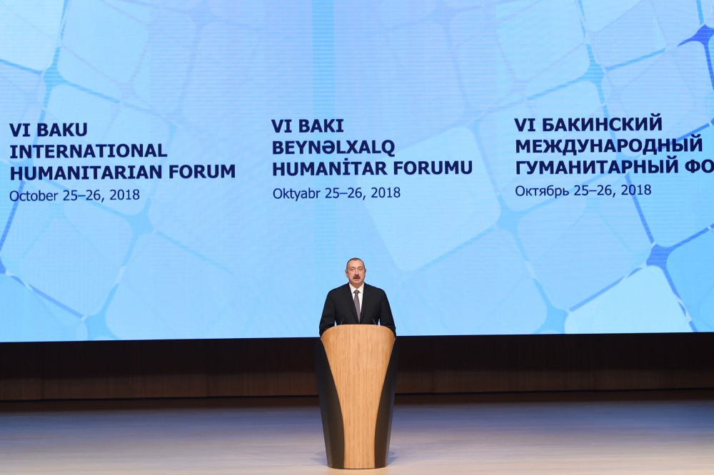 6th International Humanitarian Forum held in Baku President Ilham Aliyev attended official opening ceremony