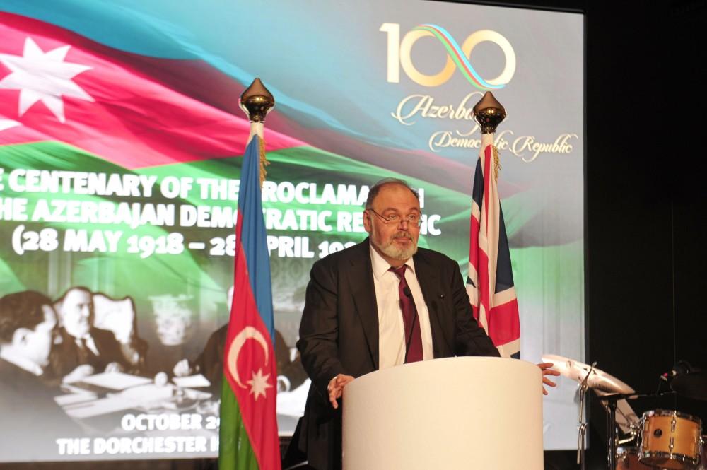 Heydər Əliyev Fondunun təşkilatçılığı ilə Londonda Azərbaycan Xalq Cümhuriyyətinin 100 illiyinə həsr olunan tədbir keçirilib