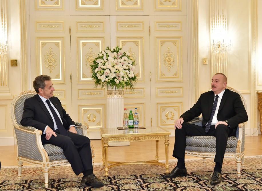 Prezident İlham Əliyev Fransanın sabiq Prezidenti Nikola Sarkozi ilə görüşüb