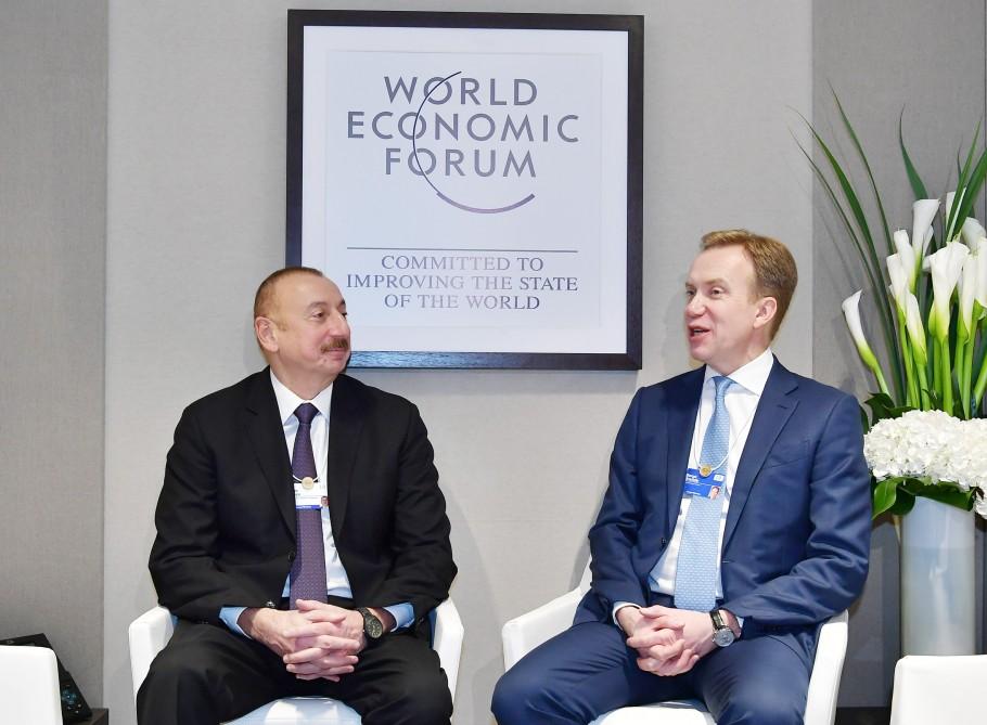 Azərbaycan Prezidenti İlham Əliyevin İsveçrəyə işgüzar səfəri  Davosda Dünya İqtisadi Forumunun prezidenti ilə görüş