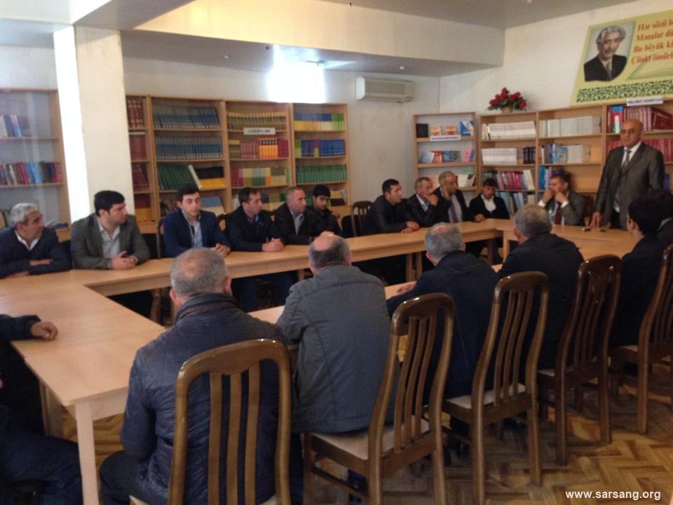 "Presentation of public report on the project ""Sarsang – Prevention of humanitarian catastrophe"" in Barda region"