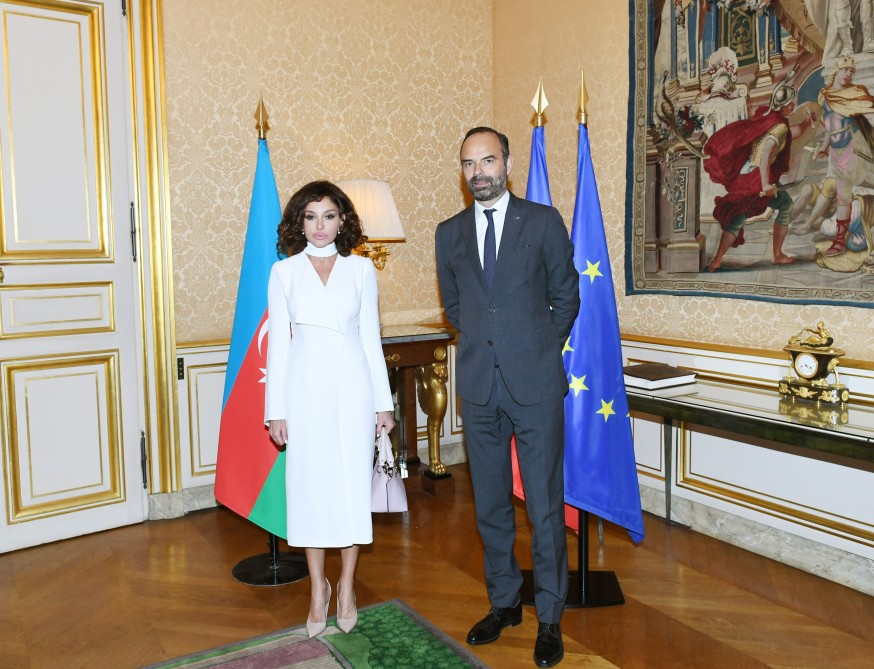 First Vice-President of Azerbaijan Mehriban Aliyeva, French Prime Minister Édouard Philippe held one-on-one meeting