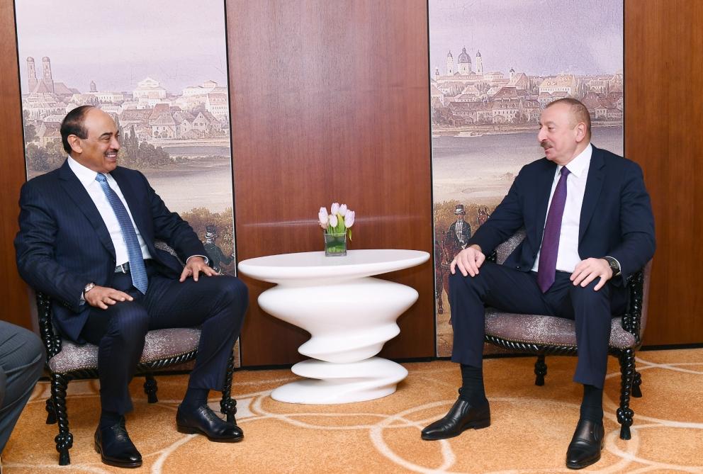 Prezident İlham Əliyev Münxendə Küveyt Dövlətinin Baş Naziri ilə görüşüb