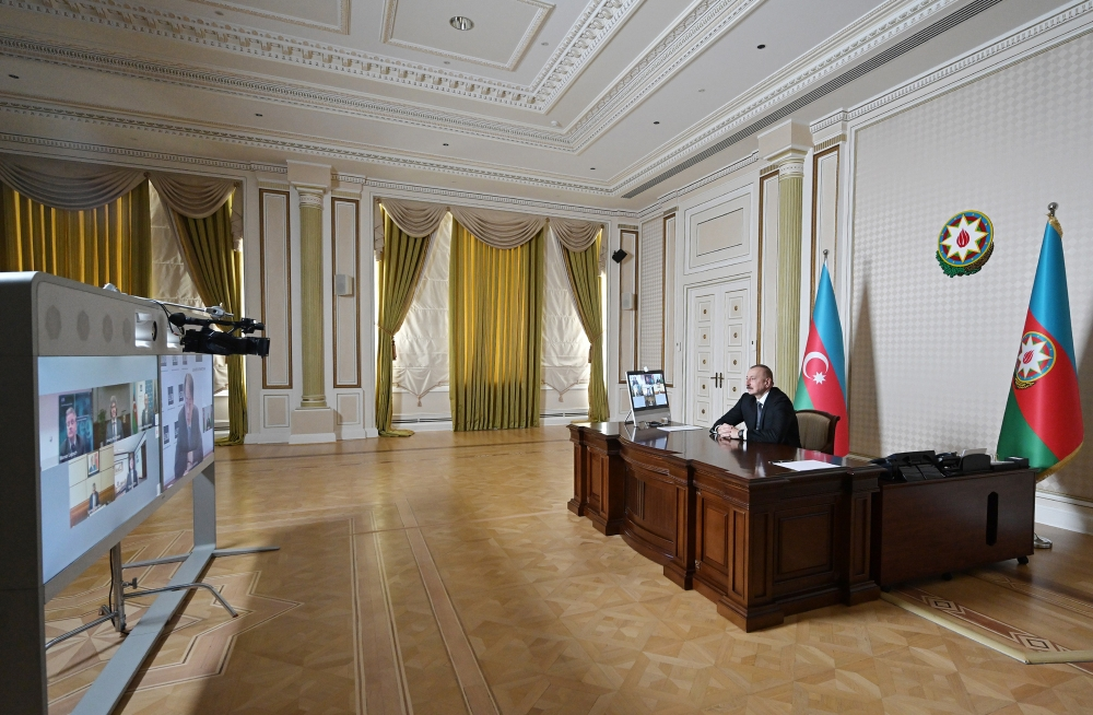 Initiated by Asian Development Bank, videoconference between President Ilham Aliyev and the bank's senior executives held