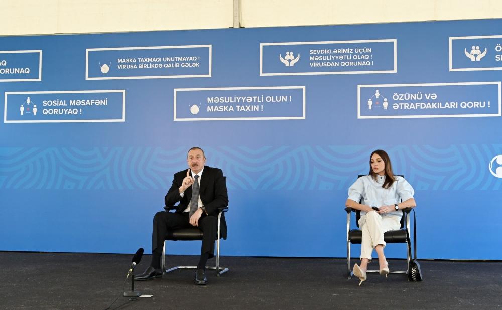 Prezident İlham Əliyevin və birinci xanım Mehriban Əliyevanın iştirakı ilə üç modul tipli xəstəxananın açılışı olub